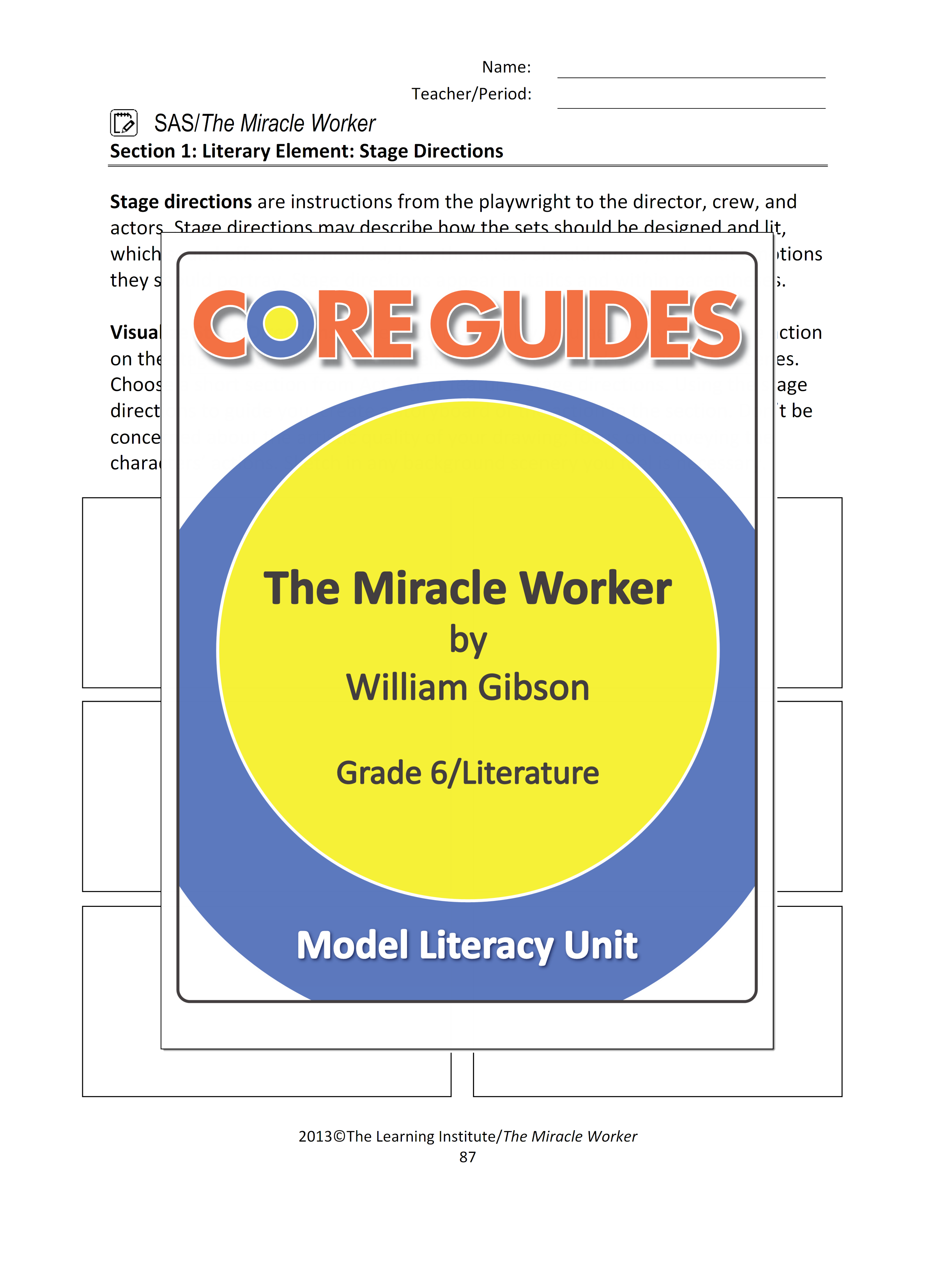 """Download a free PDF from our Core Guide for the literary text """"The"""