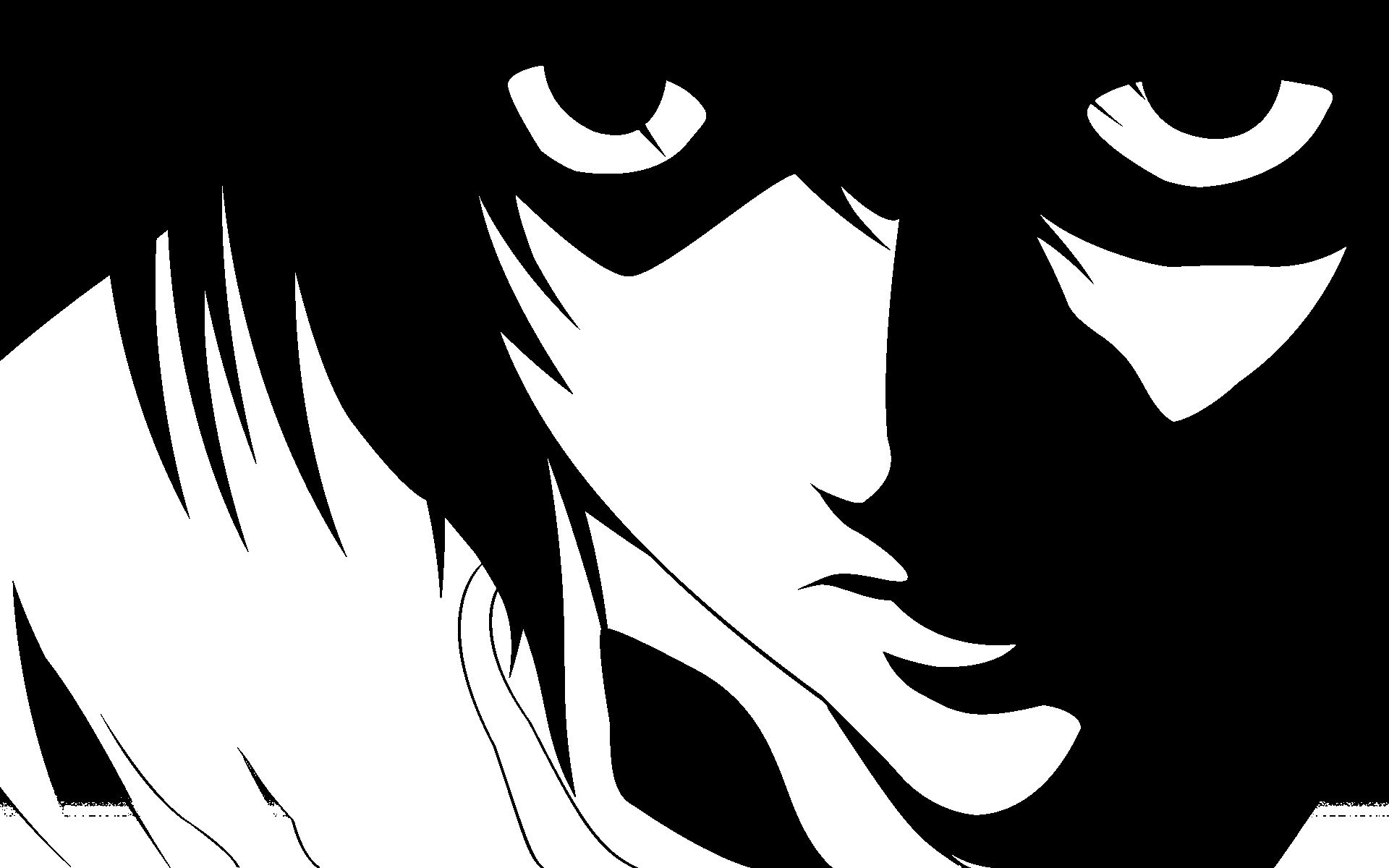 Anime_Wallpaper_Black_White_Love : Death Note Wallpaper Anime Manga in Japan Black and White Wallpapers HD Wide Lugares para ...