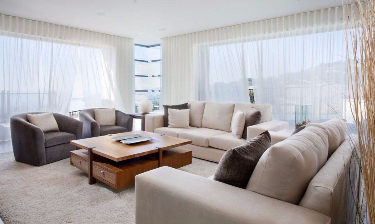 Inspirational Modern Living Room Designs Coffee Side Tables White Curtains Living Room Living Room Design Modern Curtains Living Room Modern