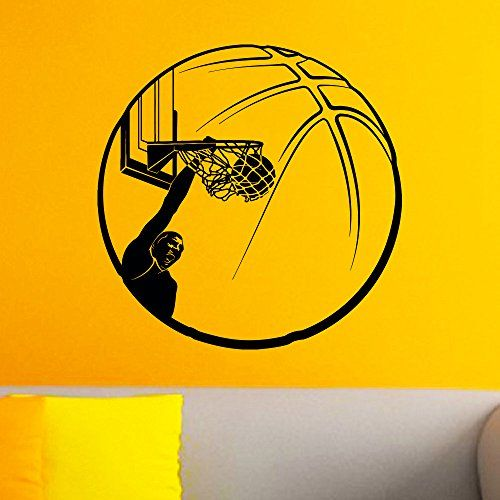 Basketball Player Sport Wall Decal Vinyl Sticker Ball Game Gym Wall ...