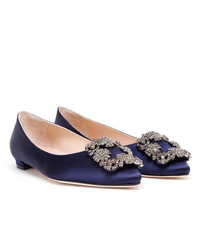 75bccd0a8 MANOLO BLAHNIK | Hangisi Embellished Satin Flats | Shoes | Manolo ...