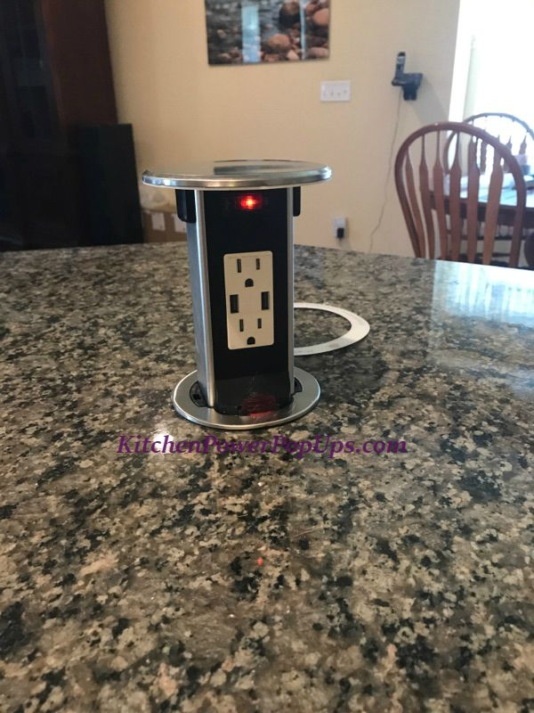 kitchen power pop ups spill proof pop up 15a usb outlet