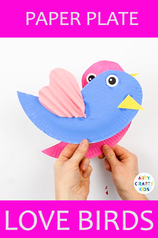 Create a pair of gorgeous Paper Plate Love Birds this valentines! A simple Valentines Day craft for Kids to try, made