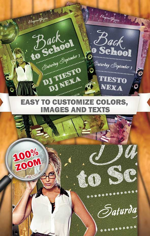 Free Back To School Flyer Psd Template Designsave Free Flyer