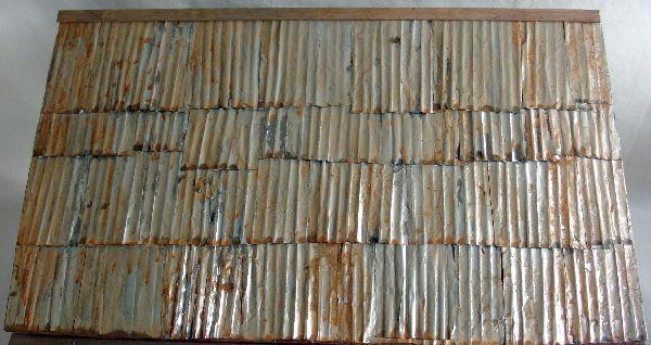 12 Pc.//modelos de casa de muñecas Birdhouse kits del ferrocarril Techos de metal corrugado