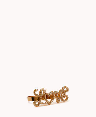 #Forever21                #ring                     #Two-Finger #Faux #Pearl #Love #Ring                Two-Finger Faux Pearl Love Ring                                               http://www.seapai.com/product.aspx?PID=50396