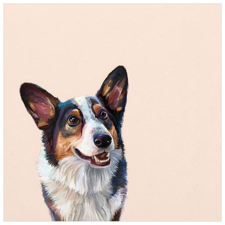 best friend tri color corgi wall art dog art corgi on best wall color for artwork id=12402