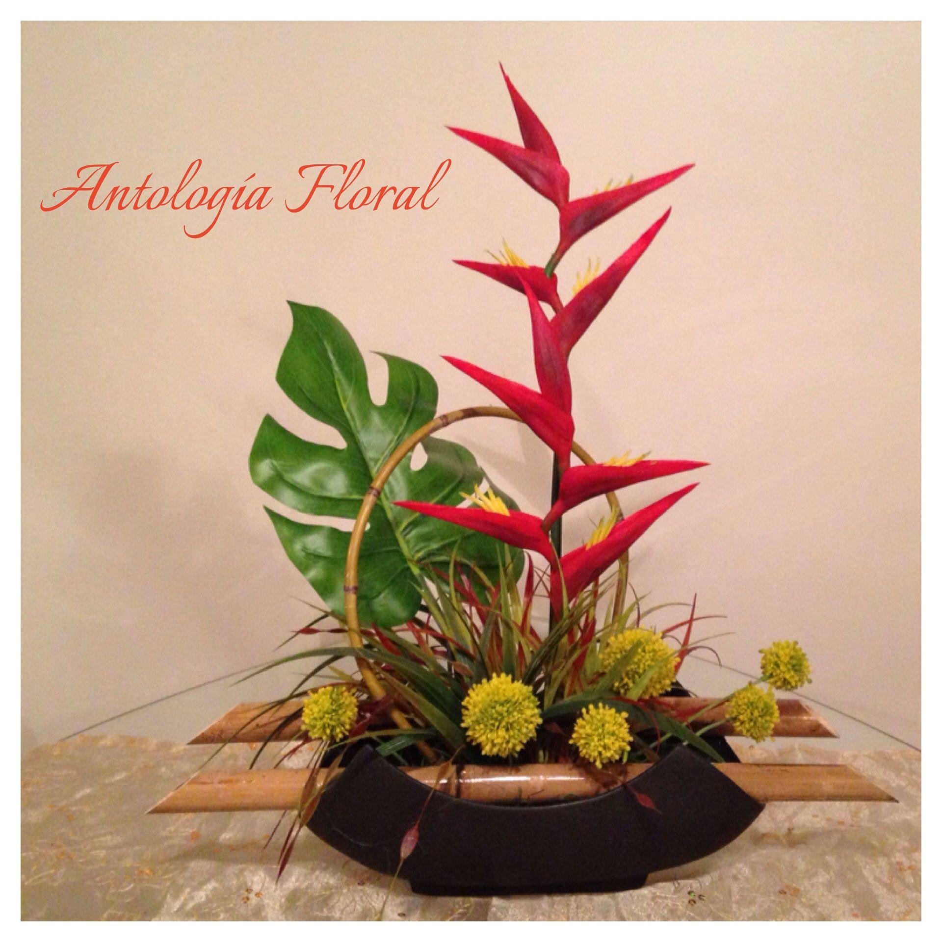 arreglo de flores con toque oriental
