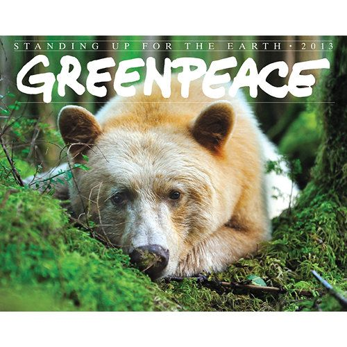 Greenpeace Wall Calendar: Greenpeace is the organization synonymous with peaceful environmental activism, and the Greenpeace: Standing Up for the Earth calendar is a poignant reminder of what is at stake.  $13.99  http://calendars.com/Nature/Greenpeace-2013-Deluxe-Wall-Calendar/prod201300003064/?categoryId=cat00732=cat00732#