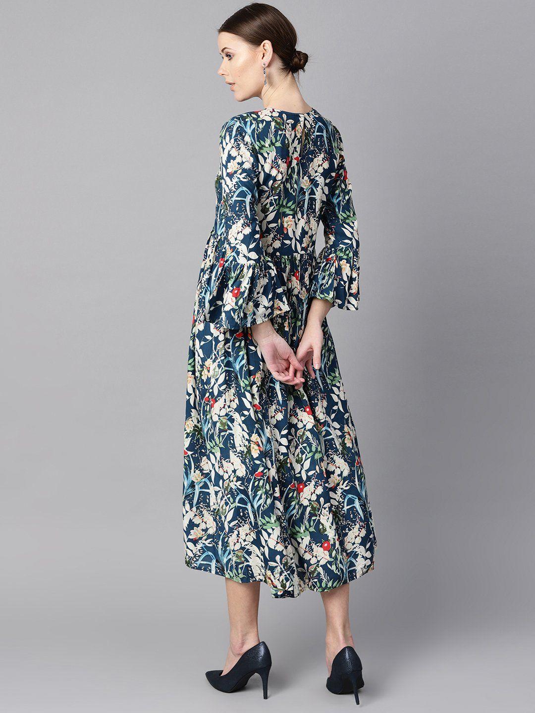 Women 39 S Viscose Rayon Maxi Dress In Blue Dresses Maxi Dress Dress Length [ 1440 x 1080 Pixel ]