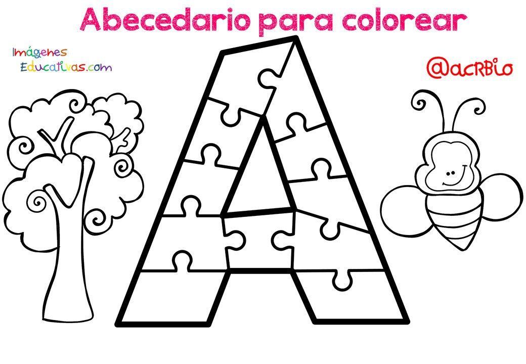 Dibujos De Colegios Para Colorear E Imprimir: Abecedario Para Colorear Listo Para Descargar E Imprimir