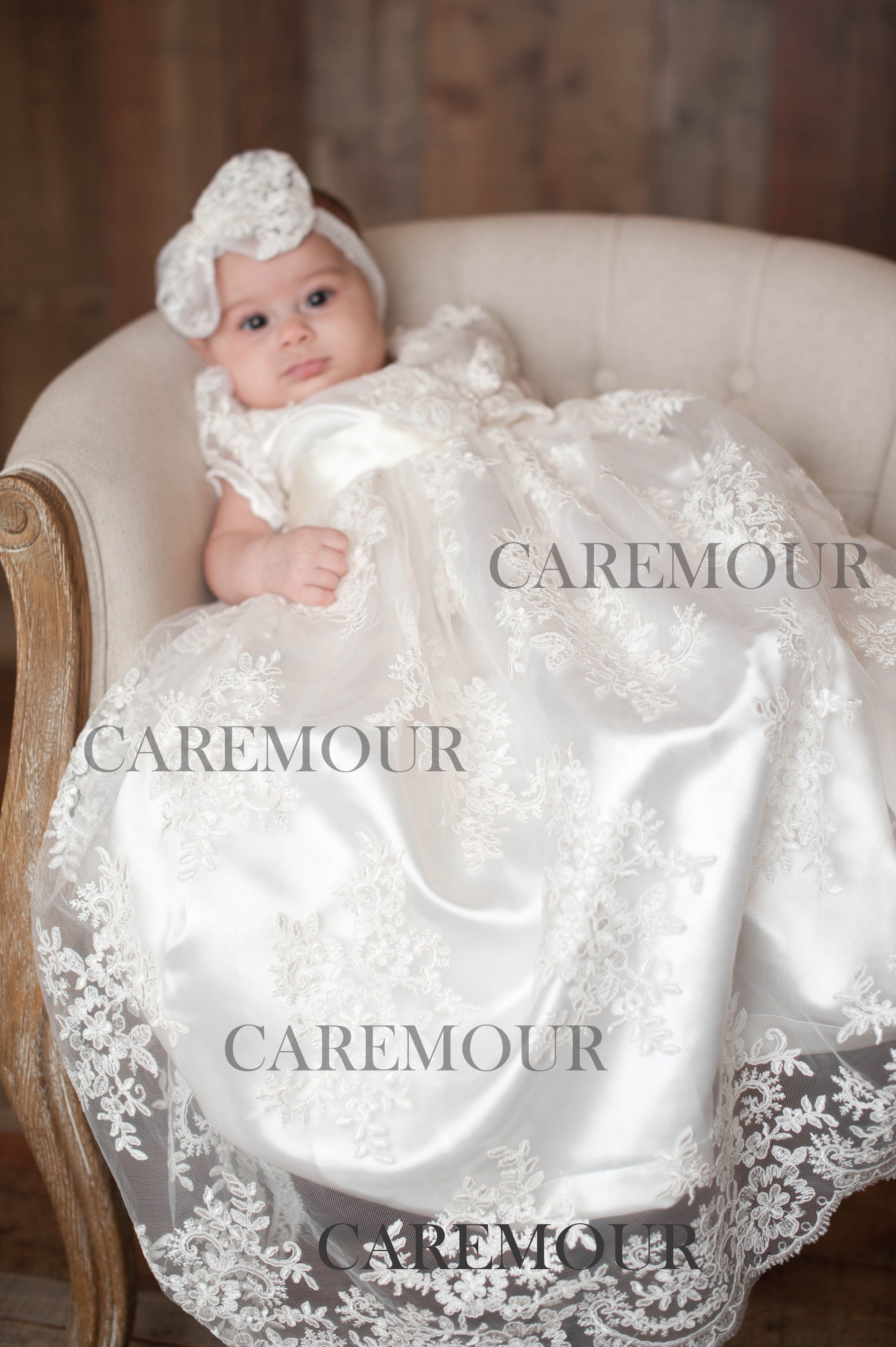 Caremour Christening gowns, Christening dress, Baptism Gown, Baptism ...