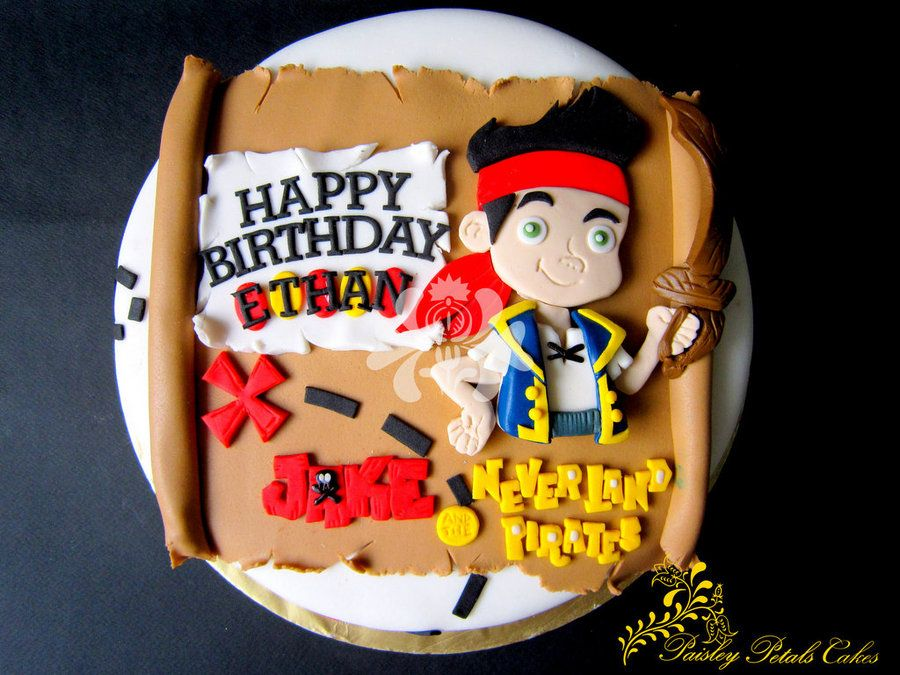 Jake The Neverland Pirates Cake By Paisley Petals Cakes
