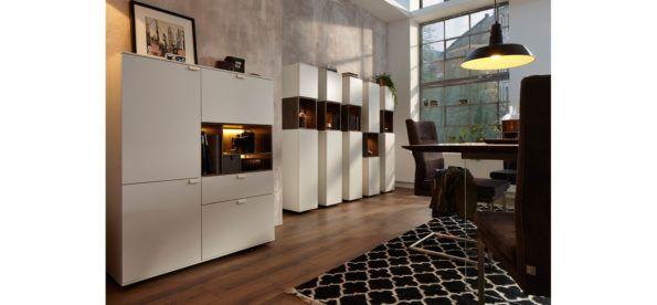 Weiß, schlicht  elegant#wohnzimmer #highboard #schrank - schrank für wohnzimmer