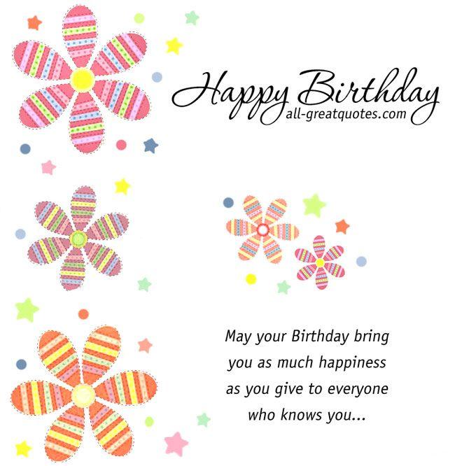 Birthday Cards Facebook Happy Birthday Happiness And Birthdays