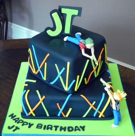 laser tag birthday cake Nates 10th birthday Pinterest Laser
