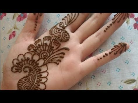 Mehndi Tattoo Peacock Feather : Easy simple mehndi designs for front hand ; art's of