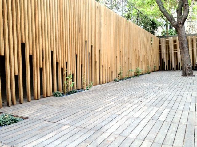Terrasse bois et palissade, Paris la Bastille - NS Bois I Agencement