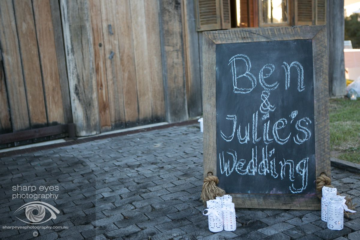 Wedding sign. Rustic country wedding.http://www.sharpeyesphotography.com.au