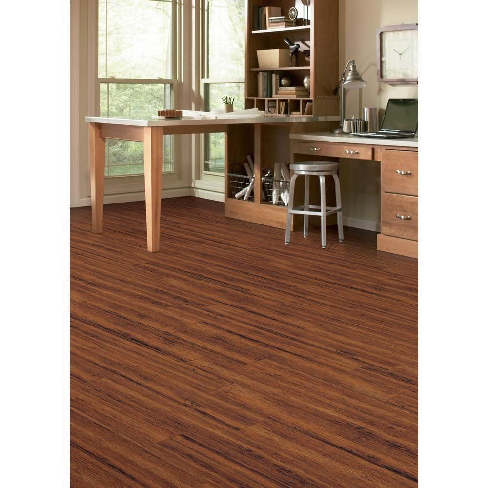 Home Legend Hand Scraped Strand Woven Spice 3 8 In X 5 1 8 In X 36 In Length Click Lock Bamboo Flooring 25 625 Sq Ft Case Hl214h Distressed Hardwood Floors Vinyl Plank Flooring Hardwood Floors
