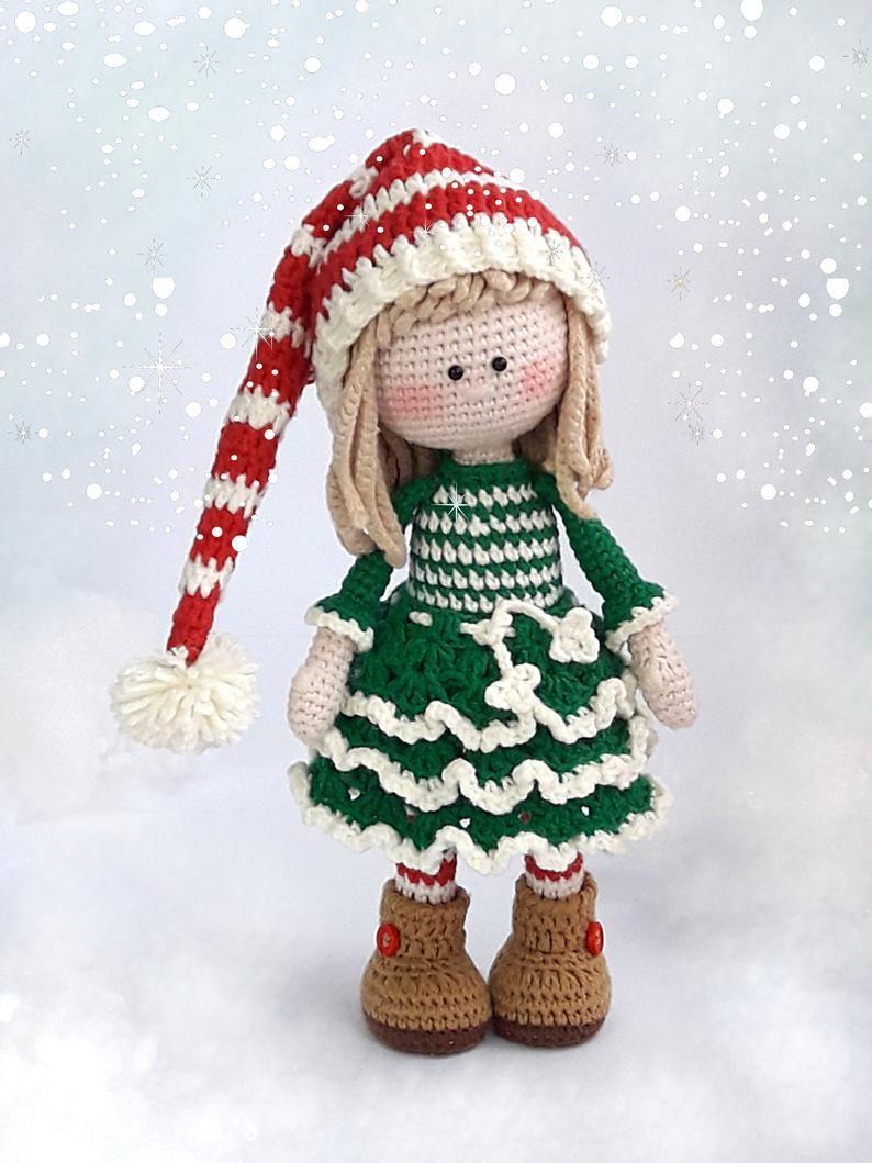 Free amigurumi christmas elf doll pattern | Crochet christmas ... | 1059x794