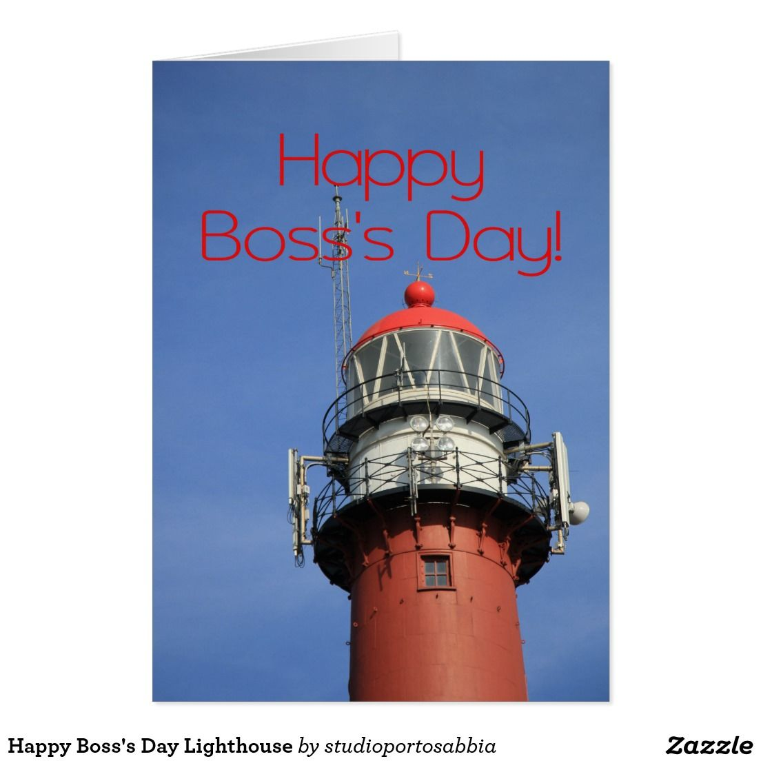 Happy bosss day lighthouse card lighthouse lighthouse happy bosss day lighthouse greeting card kristyandbryce Choice Image