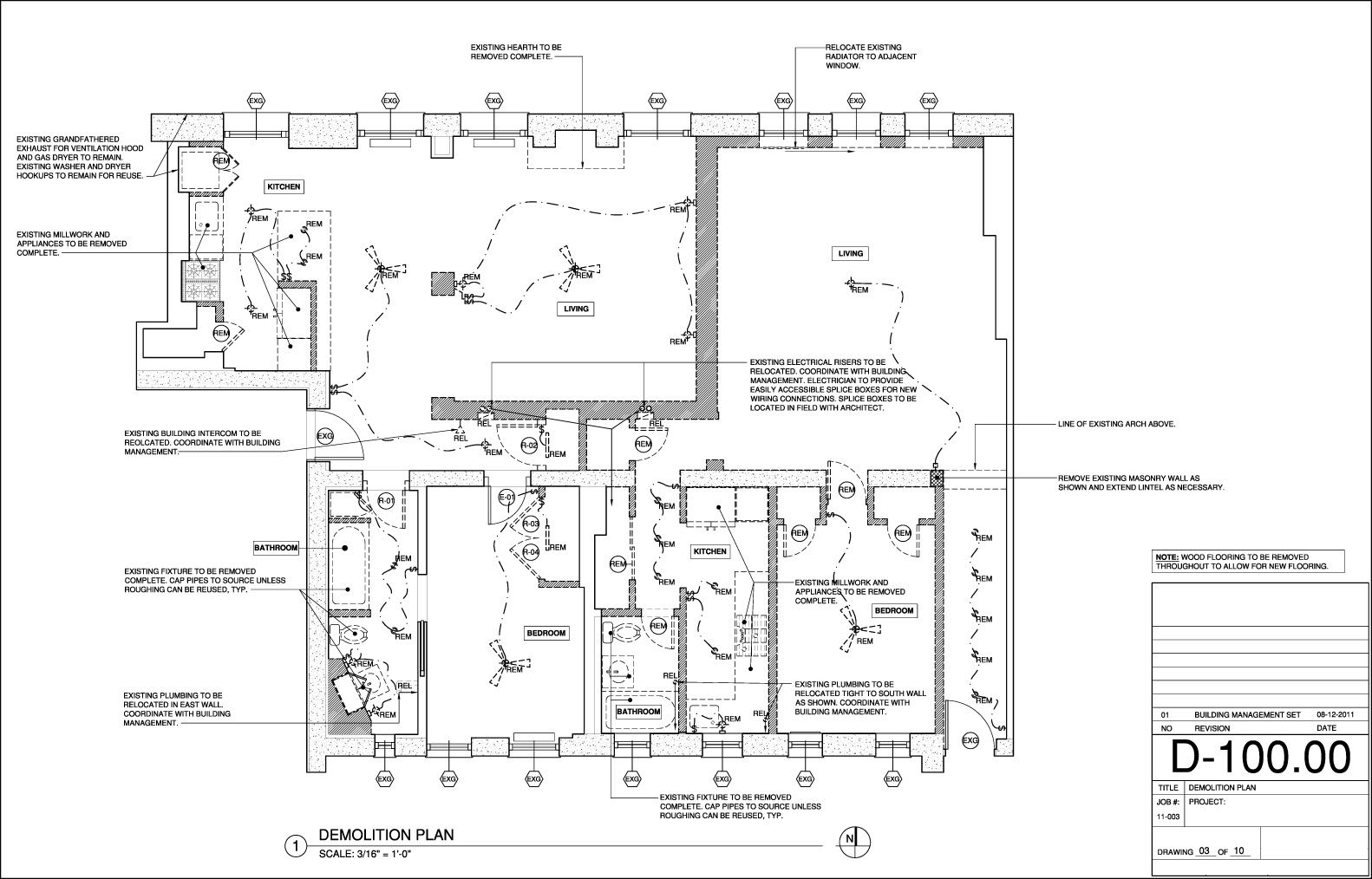 Demolition plan construction documents pinterest for How to get floor plans of an existing building