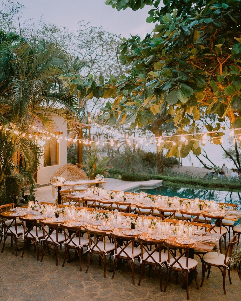 Tropical Boho Destination Wedding in Costa Rica with Blue Hues