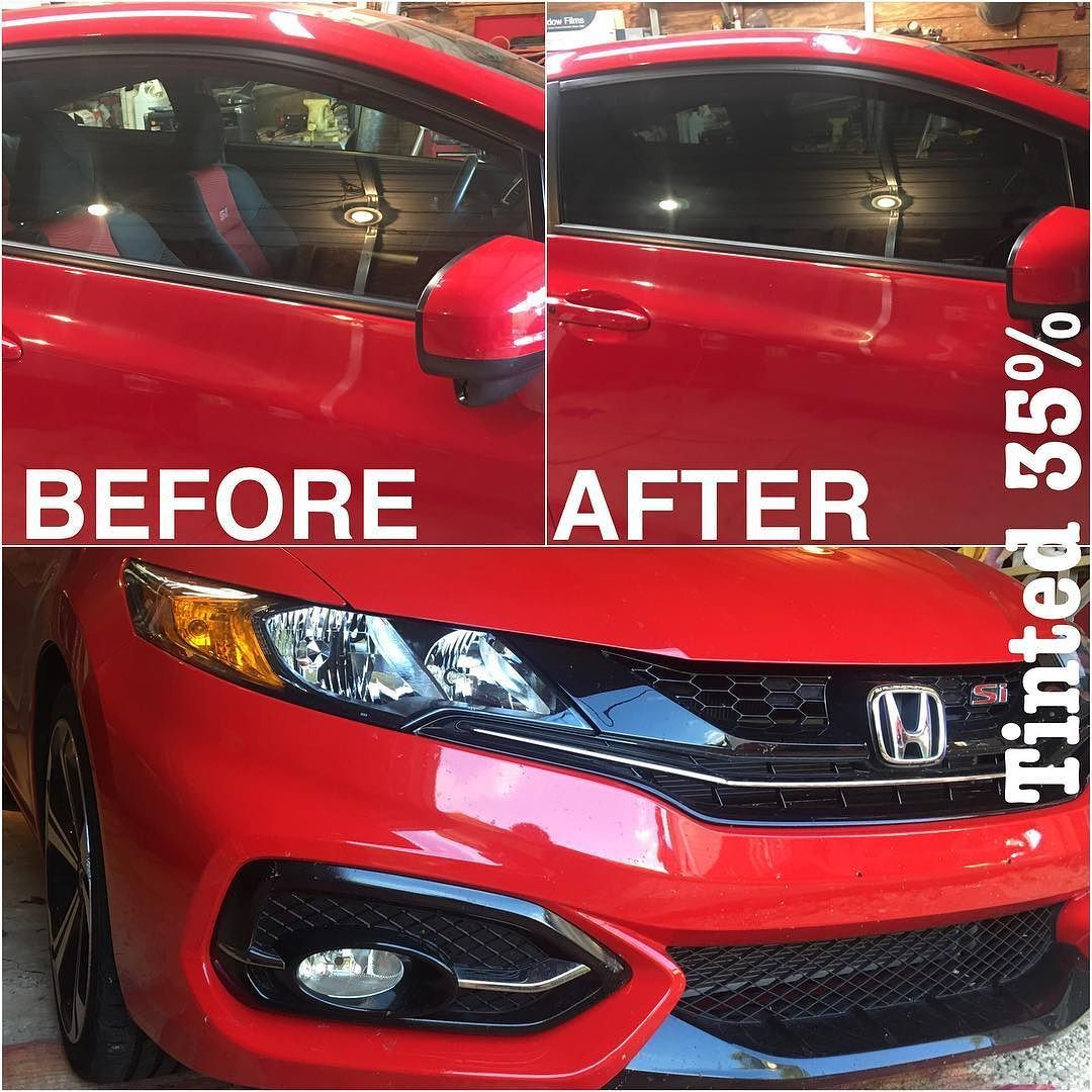 2014 Red Honda Civic Tinted 35 Vlt Hondacivic Honda Roxboro