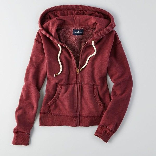 345be64342a7f9 American Eagle Zip-Up Hoodie ( 25) ❤ liked on Polyvore featuring tops