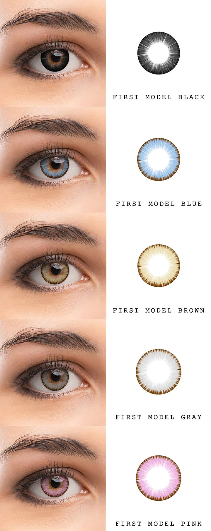 195f83f6838 microeyelenses.com - Colored contact lenses online shop. First Model  series  Black