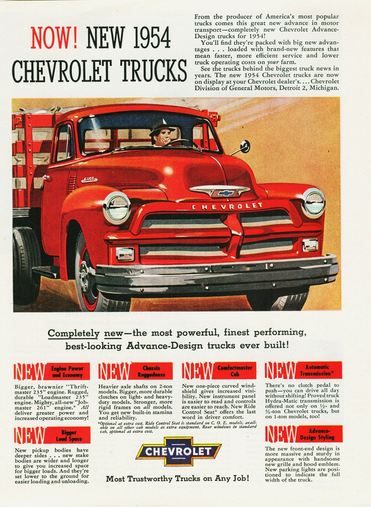 1954 Chevrolet Truck Ad 01 Chevy Gmc Ads Pinterest Air Cleaner
