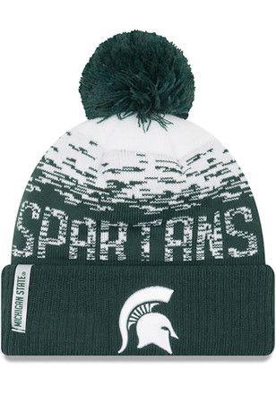 5c4e9c3b54b shop new era michigan state spartans green ne16 sport knit flect youth knit  hat 763fe 3bc7e