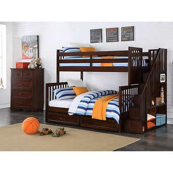 For C Amp P Bedroom Zachary 2 Piece Twin Over Full Staircase