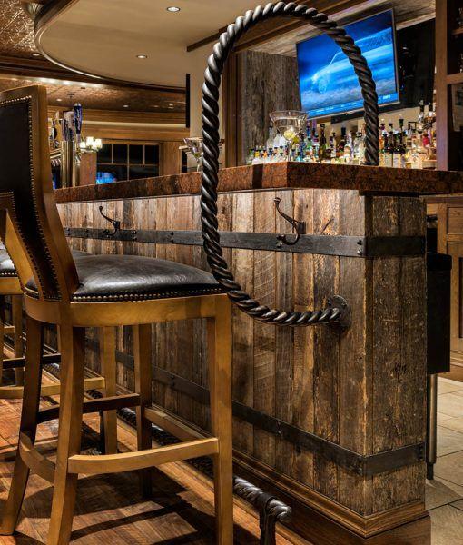 Reclaimed Barn Wood Natural Siding Rustic Wall Basement Bar Designs Basement Bar Home Bar Designs