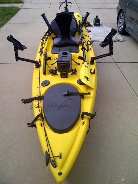 Fs Ocean Kayak Big Game Prowler With Bass Yaks Trolling Motor Ocean Kayak Kayak Fishing Kayak Fishing Gear