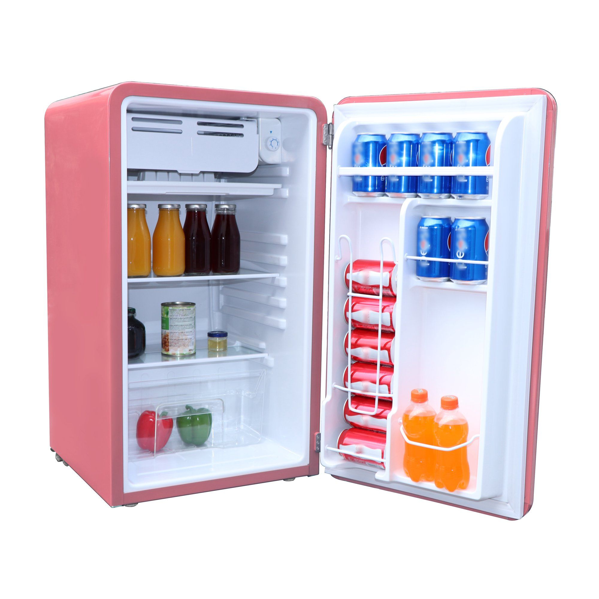 Frigidaire 3 2 Cu Ft Single Door Retro Compact Refrigerator Efr372 Blue Walmart Com In 2020 Mini Fridge Compact Fridge Retro Fridge