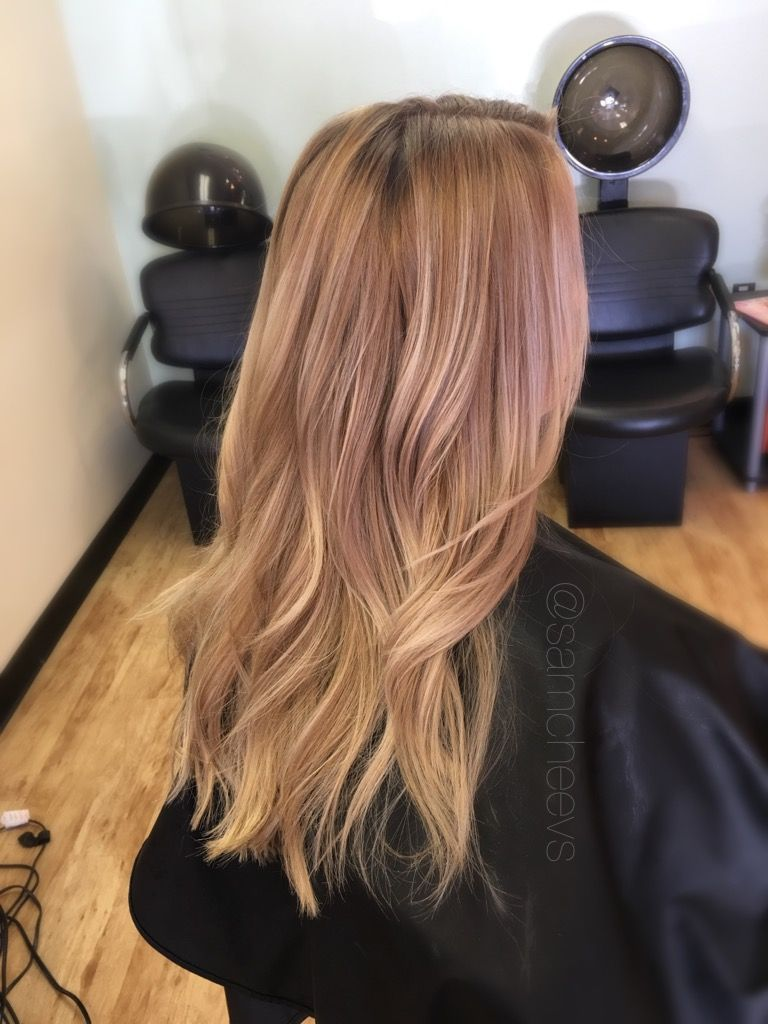 Dirty Blonde Shadow Root Honey Caramel White Highlights For