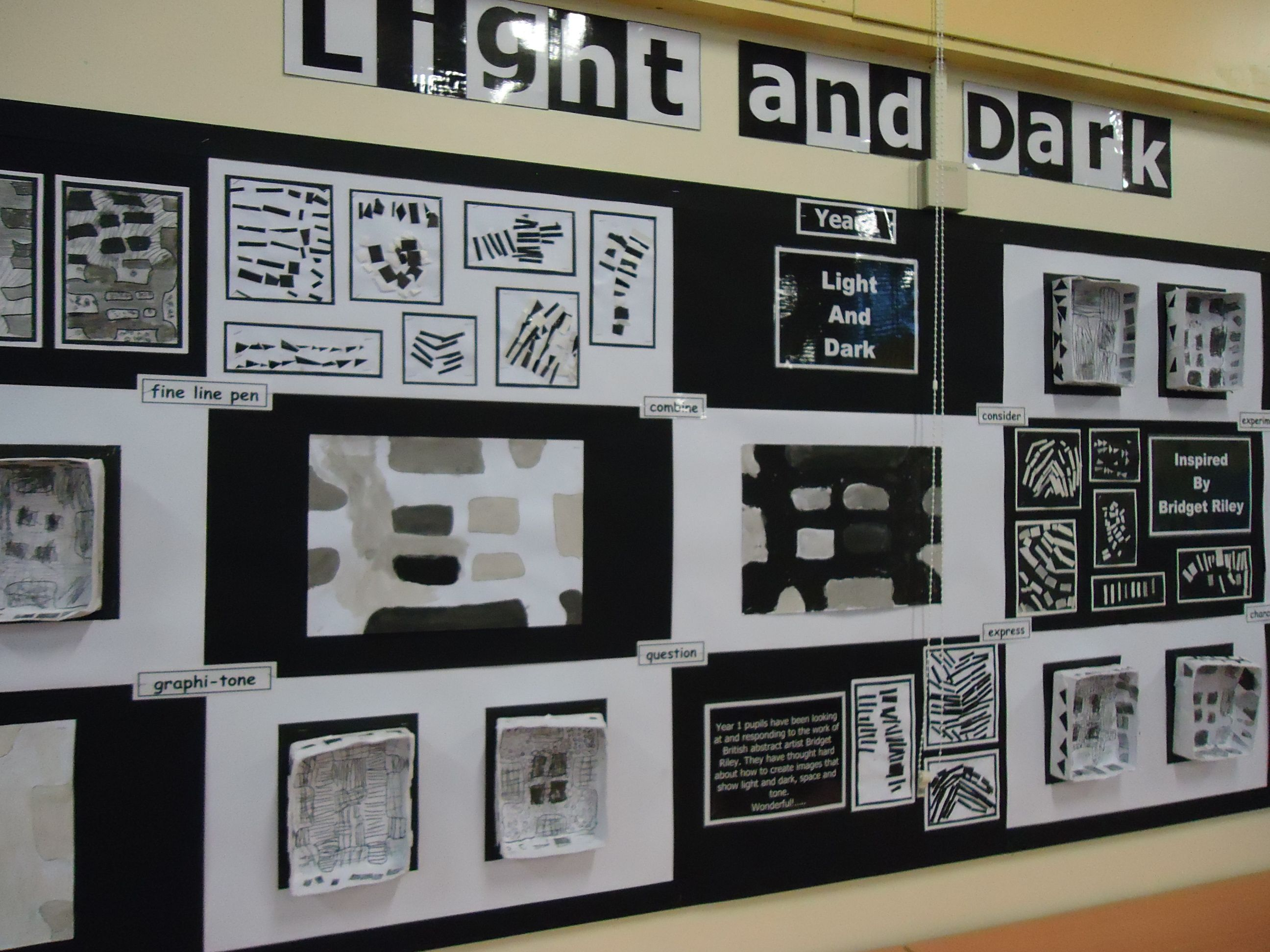 Light And Dark Project Display Year 1 Ks1 Art Projects Pinterest