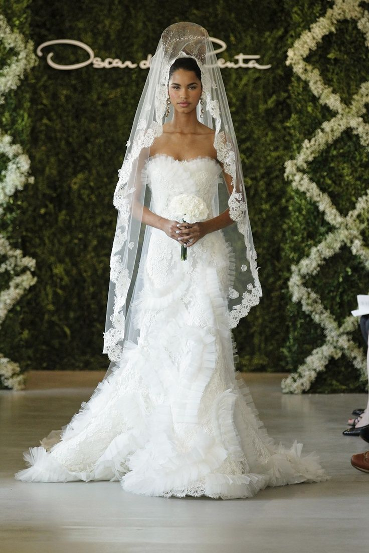 oscar de la renta veil   bridal accesories   pinterest   bridal hair