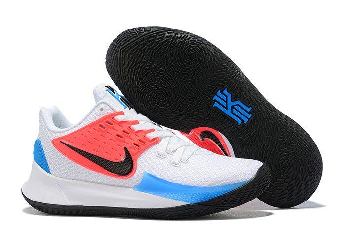 2019 Nike Kyrie Low 2 WhiteBlack Blue Hero AV6337 100