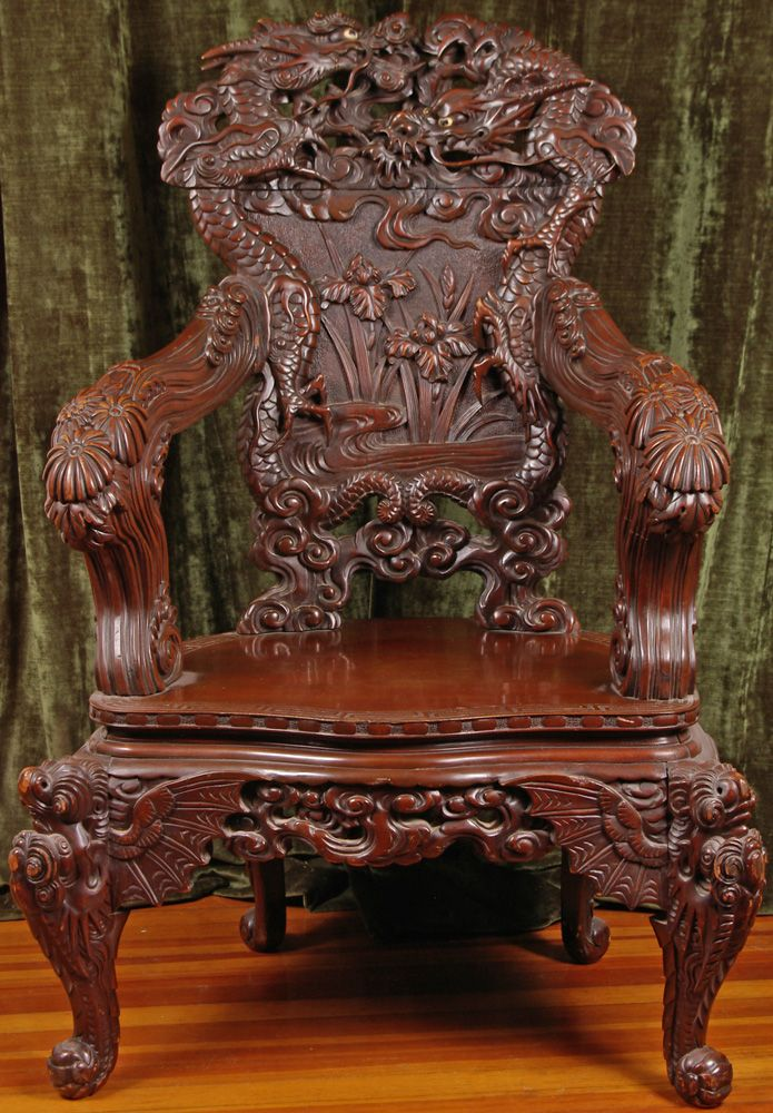 Antique Chinese Dragon Chair Walmart Plastic Lawn Chairs Large Projects To Try Antiques