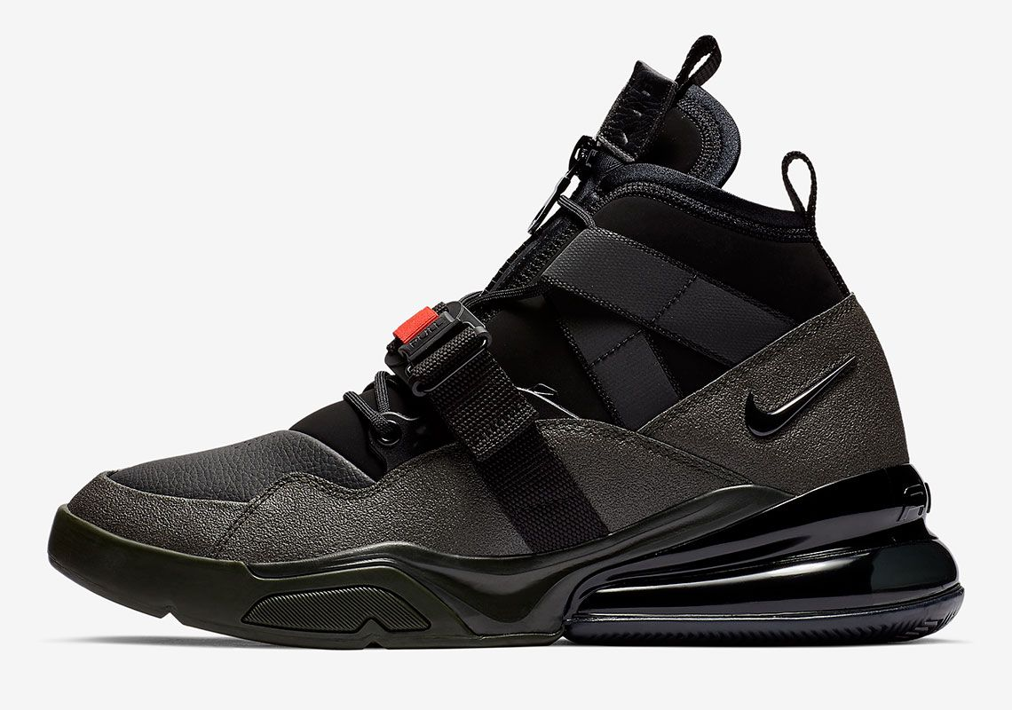 sale retailer f6d3a 70c22 The Nike Air Force 270 Utility Arrives In Military Tones Of Sequoia And  Black