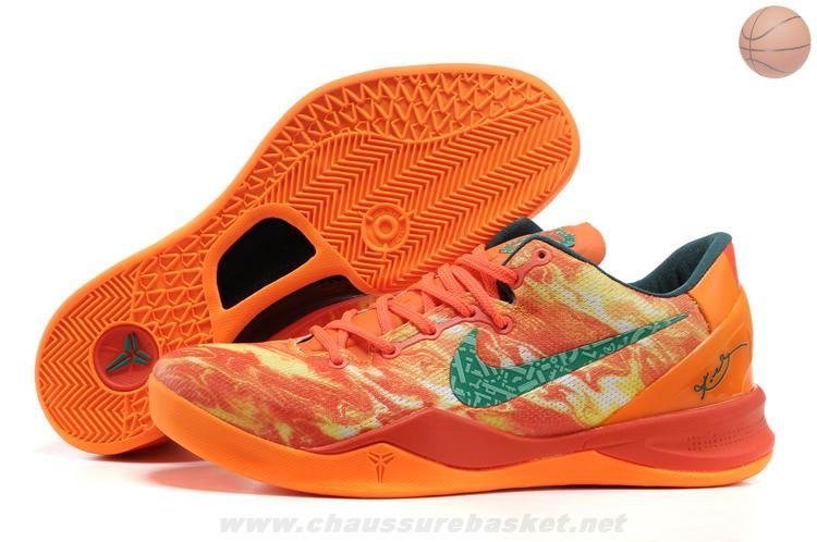Nike Zoom Kobe VIII BRIGHT CRIMSON/TTL ORANG-WHT-GRN 587580 800