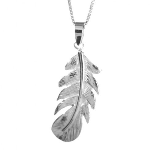 Sterling Silver Jewellery Uk Feather Pendant