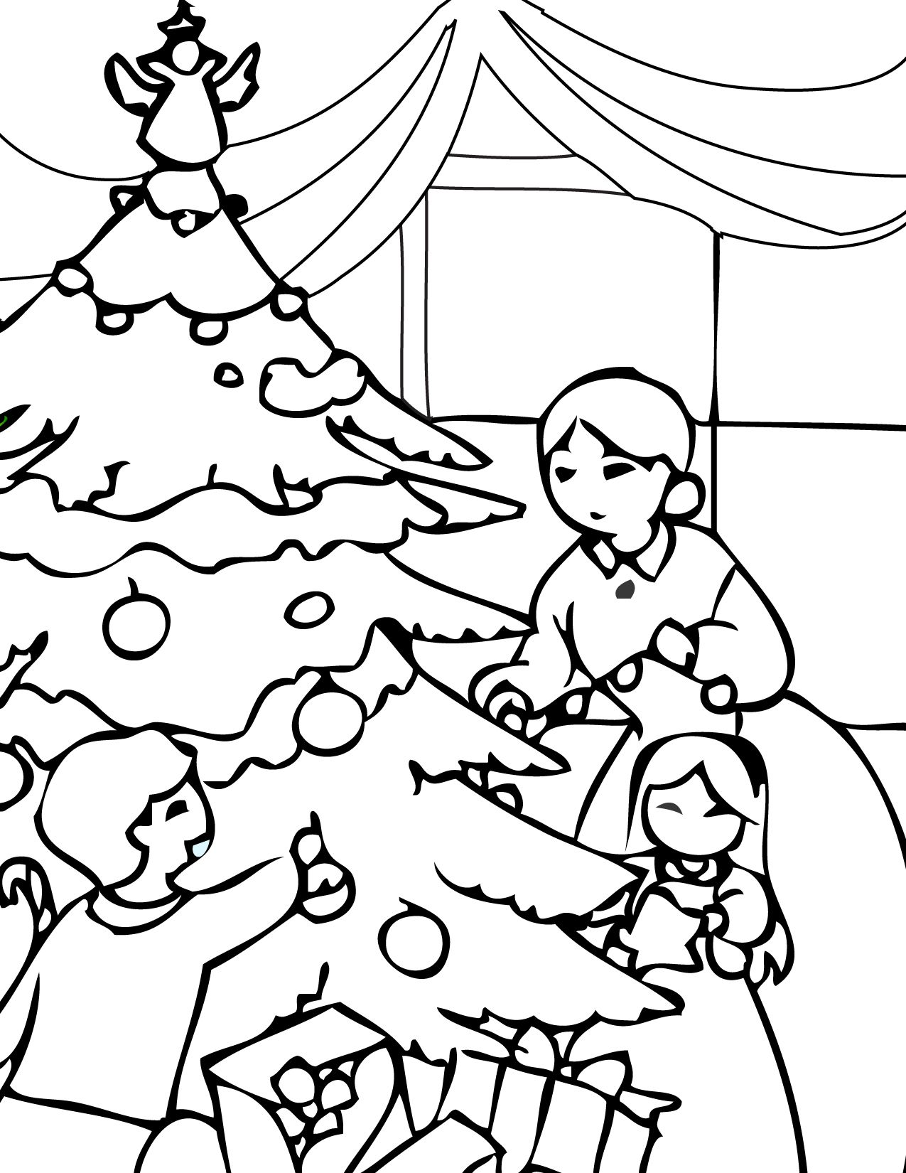 nice coloring pictures of christmas Free Download | Anime | Pinterest