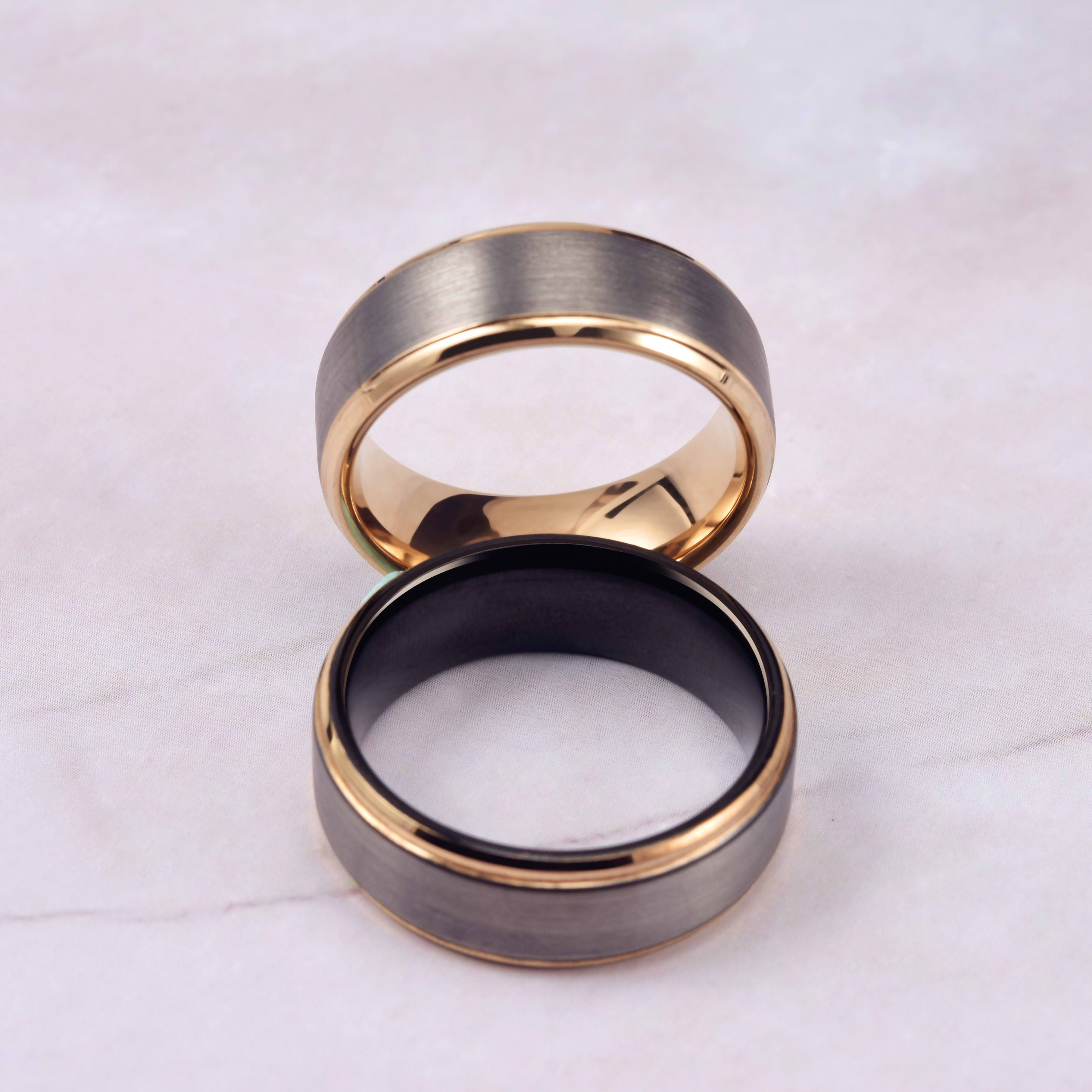 King Will DUO Mens 8mm Brushed Finish Tungsten Carbide