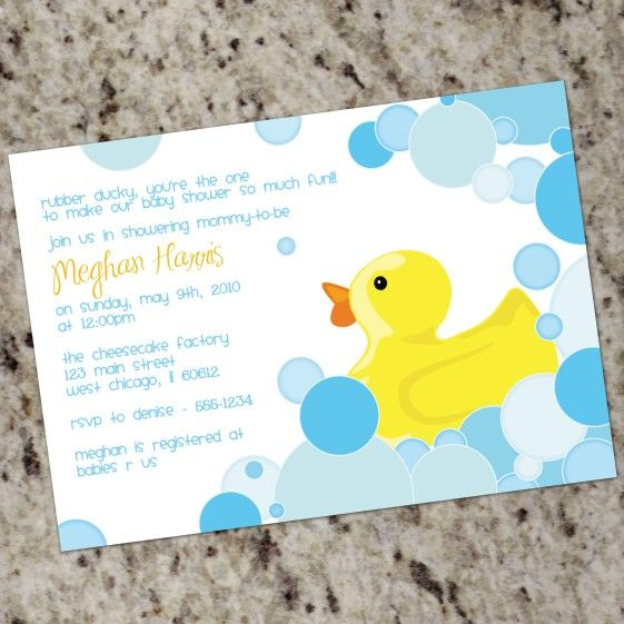 Duck Theme Baby Shower Ducky Baby Shower Invitations 2 Baby   Free  Customizable Printable Baby Shower  Free Customizable Printable Baby Shower Invitations