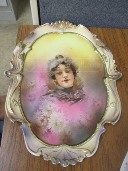 Antique Porcelain Plate by R.S. Prussia Steeple