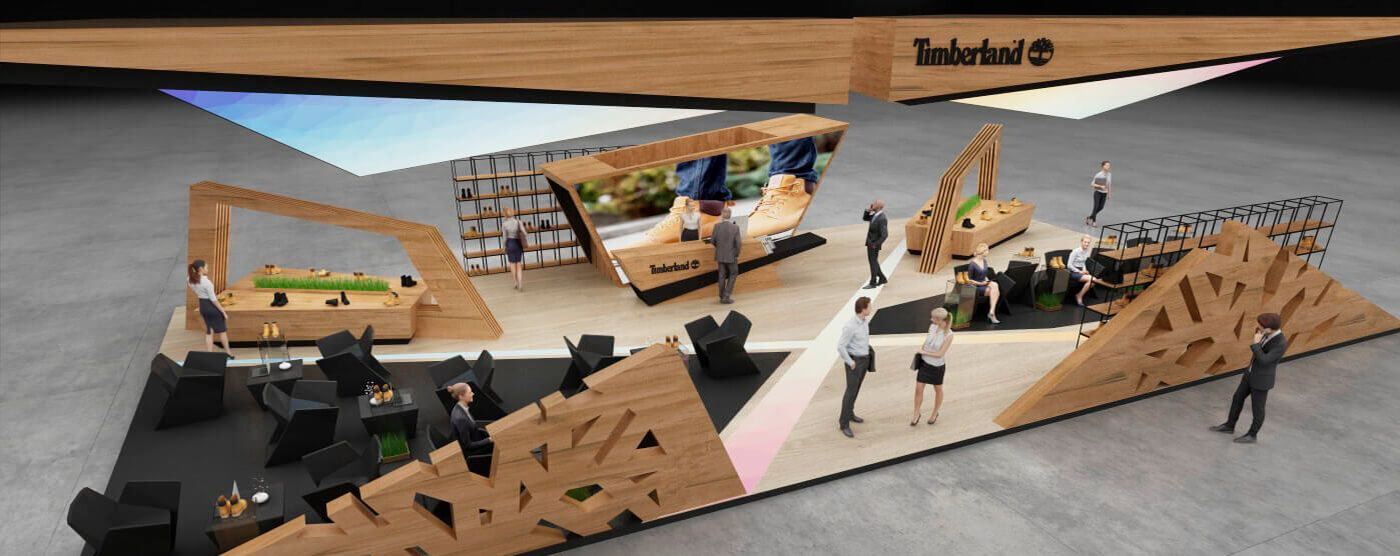 Timberland exhibition stand design | | GM stand design in